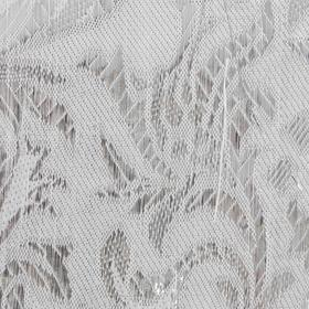 Ткань парча на белом серебряный рис узоры, ширина 150 см