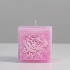 """Свеча ароматическая фигурная """"Летнее настроение"""", 7,5х7,5х7,5 см, розовый"""
