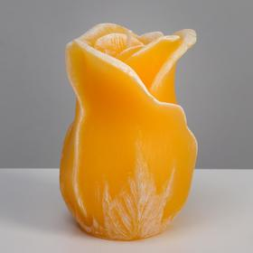 """Свеча фигурная ароматическая """"Роза"""", 8х12,5 см, солнечный желтый"""