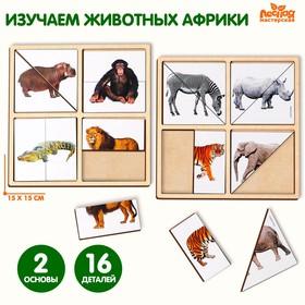 Картинки-половинки «Животные Африки»