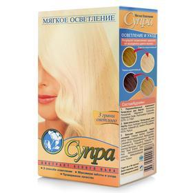 Мягкое осветление для волос «Супра» с экстрактом белого льна, витаминами A, E, F