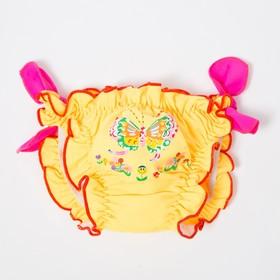 Плавки для девочки, цвет жёлтый, рост 104 см