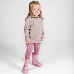 Лосины для девочек, рост 86 см, цвет розовый