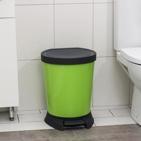 Ведро для мусора с педалью, 18 л, цвет оливковый