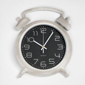 """Часы настенные, серия: Классика, """"Будильник"""", серые 25х18 см"""
