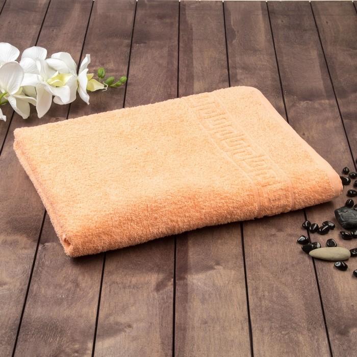 Полотенце махровое однотонное Антей цв персиковый 100*180 см 100% хлопок 430 гр/м2
