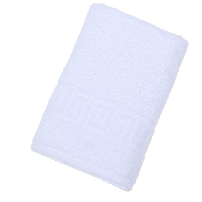 Полотенце махровое однотонное Антей цв белый 100*180 см 100% хлопок 430 гр/м2