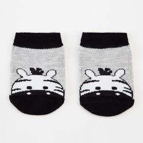 Носки детские, цвет серый меланж, размер 16-18
