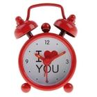 "Alarm clock ""I love you"", d=4cm, red"