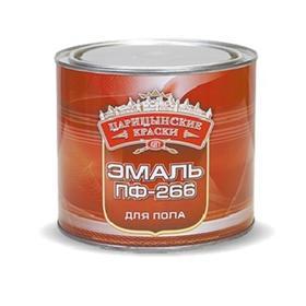 Эмаль ПФ 266 Царицынские краски желто-коричневая 1,9 кг