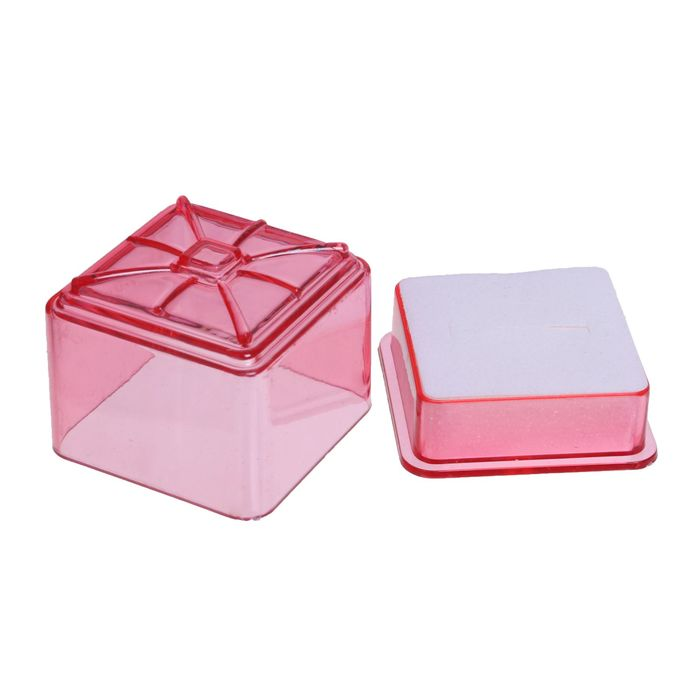 """Коробочка подарочная под кольцо """"Кубик"""", 4*4, цвет МИКС, вставка белая"""