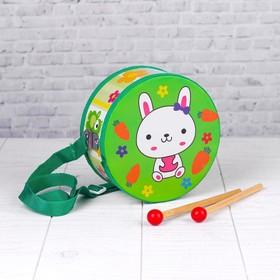 Музыкальная игрушка «Барабан», с рисунком, цвета микс, бумажная мембрана