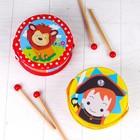Музыкальная игрушка «Барабан», с рисунком, цвета микс, бумажная мембрана - фото 106524144
