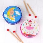 Музыкальная игрушка «Барабан», с рисунком, цвета микс, бумажная мембрана - фото 106524146