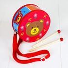 Музыкальная игрушка «Барабан», с рисунком, цвета микс, бумажная мембрана - фото 106524149