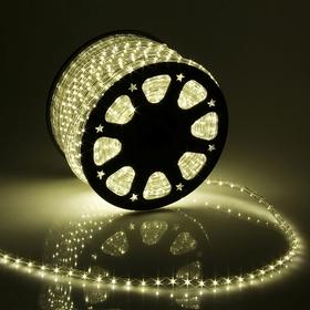 LED шнур 13 мм, круглый, 100 м, фиксинг, 2W-LED/м-36-220V в компл. набор д/подкл, Т/БЕЛЫЙ Ош