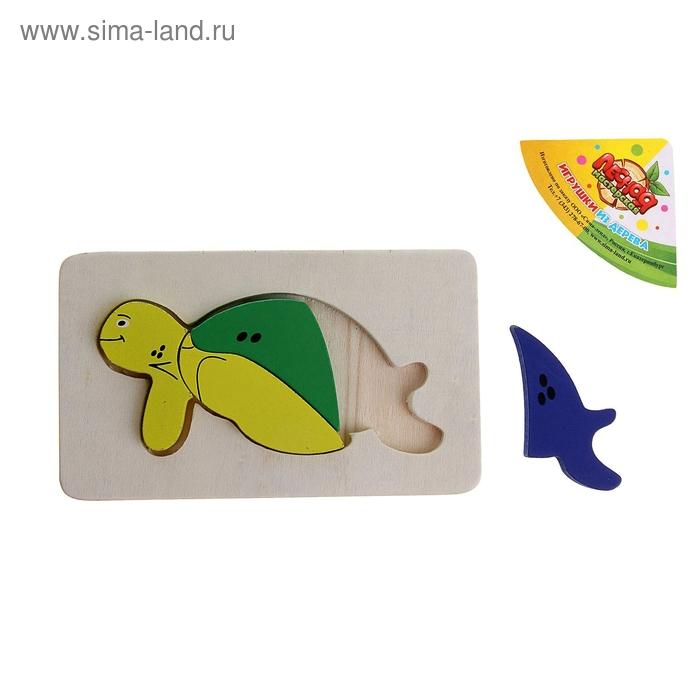 """Пазл малый прямоугольный """"Морская черепаха"""", 3 элемента"""