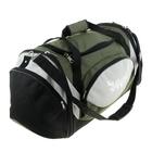 Сумка дорожная трансформер, 1 отдел, 3 наружных кармана, ремень, рисунок МИКС, цвет хаки-серый