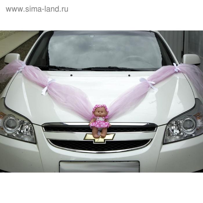 Кукла для девочки на радиатор, лента с бантами и 4 украшения на ручки с бантами