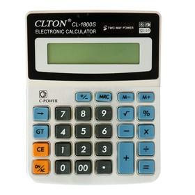 Калькулятор настольный 12-разрядный CL-1800S Clton двойное питание цвет МИКС Ош