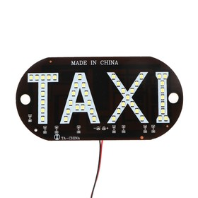 """Led sign """"Taxi"""", waterproof, 13 cm x 6 cm"""