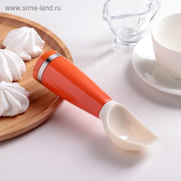 Ложка кулинарная 16 см с устойчивой ручкой, цвета МИКС