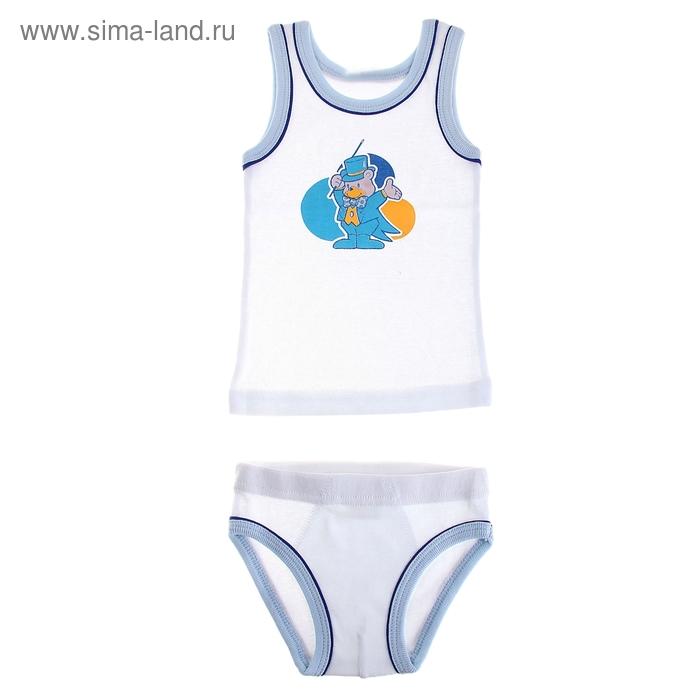 Комплект для мальчика, рост 80-86 (1,5 лет), цвета МИКС