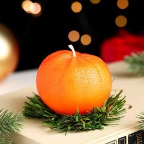 """Новогодняя свеча """"Мандарин"""""""