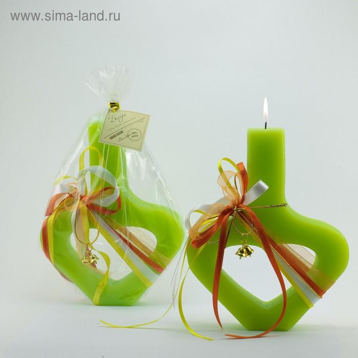 Свадебная свеча «Открытое сердце», зелёная