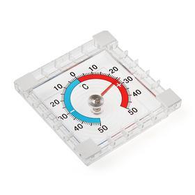 Термометр уличный, механический, квадратный, 8 х 8 см, МИКС