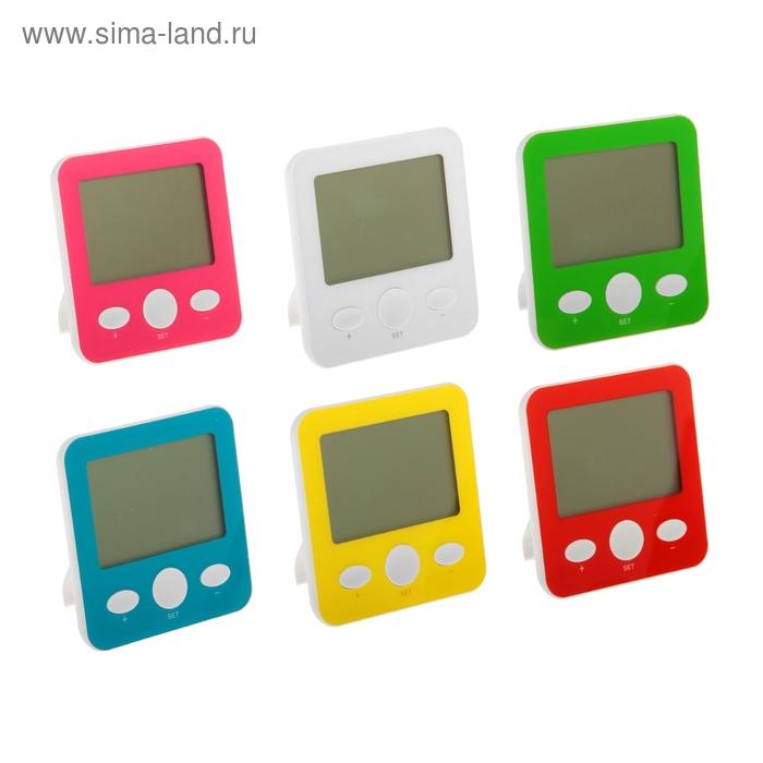 Термометр электронный, 10х10 см, указатель влажности, часы МИКС
