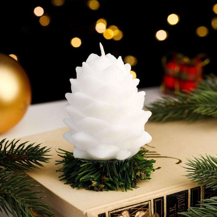 """Свеча новогодняя """"Снежная шишка"""""""