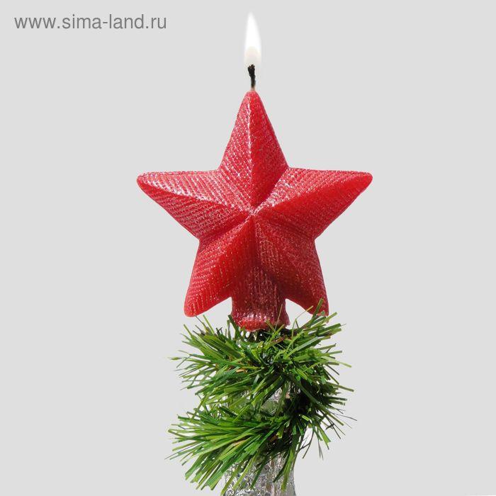 """Новогодняя свеча на бутылку """"Звезда"""""""