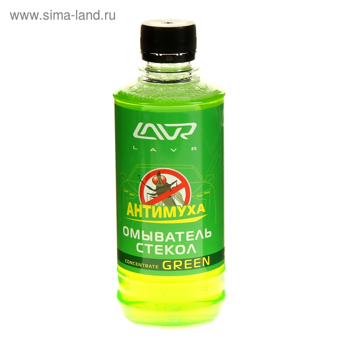 Омыватель стёкол LAVR Антимуха, концентрат Green, флакон, 330 мл