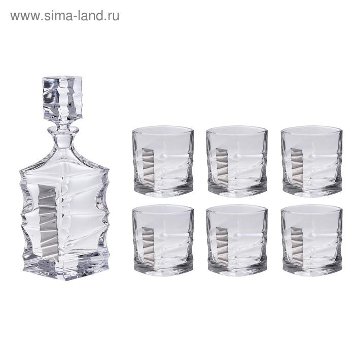 """Набор для виски """"Джим Спот"""" (графин, 6 бокалов 250 мл.)"""