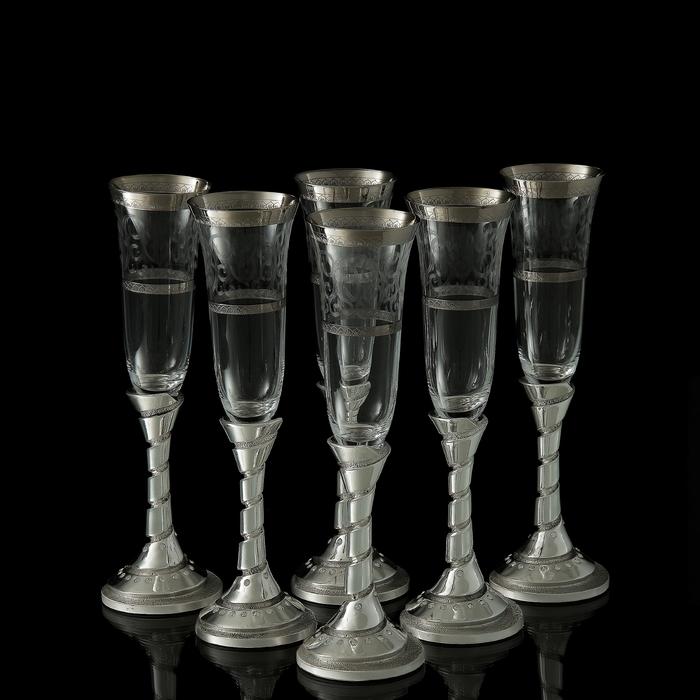 """Набор для шампанского """"Франчакорта"""", 6 бокалов 190 мл"""