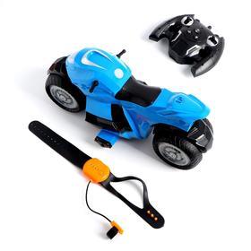 Мотоцикл - перевертыш HYPER с управлением жестами, эффект дыма, работает от аккумулятора, МИКС