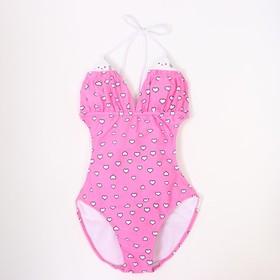 Купальник слитный для девочки, цвет розовый, рост 110 см