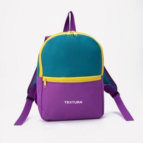 Рюкзак детский, отдел на молнии, цвет фиолетовый/синий