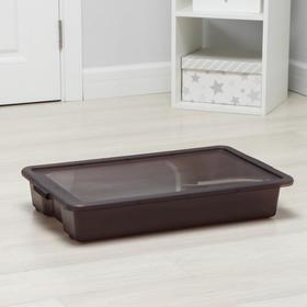 Контейнер для хранения с крышкой Porter, 18 л, 66×42×11,5 см, цвет грозовое небо