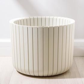 Кашпо «Шато», 29 л, цвет белый ротанг