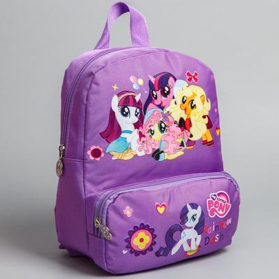 Рюкзак Пони2, 20*7*25, отд на молнии, н/карман, сиреневый