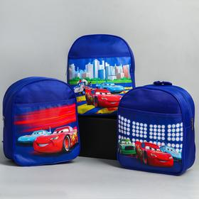Backpack Cars, 21 * 8 * 25, zippered, n / pocket, blue MIX