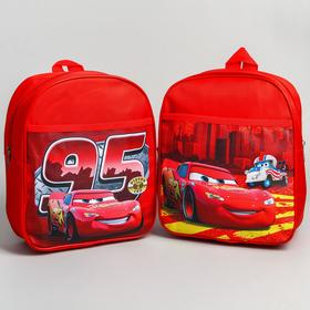 Backpack Cars small, 18 * 8 * 22, zippered, n / pocket, red MIX