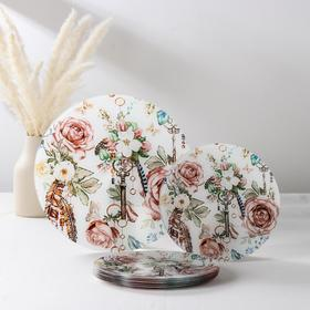 Набор столовый Vellarti «Тайна», 7 предметов: 30 см - 1 шт, 21,5 см - 6 шт, в подарочной упаковке