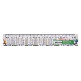 Линейка-закладка, 25 см, ЗЛ-25, «Таблица умножения» Ош