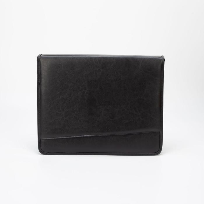 Папка, отдел на молнии, наружный карман, цвет чёрный - фото 1214301