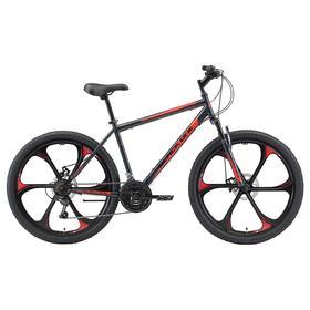 """Велосипед 26"""" Black One Onix D FW, цвет серый/черный/красный, размер 16"""""""