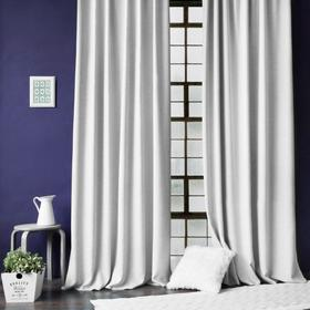 Комплект штор с подхватами «Бадди», размер 2х200х270 см, цвет белый
