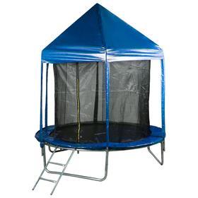 Батут 244 см с крышей, с сеткой 170 см, цвет синий